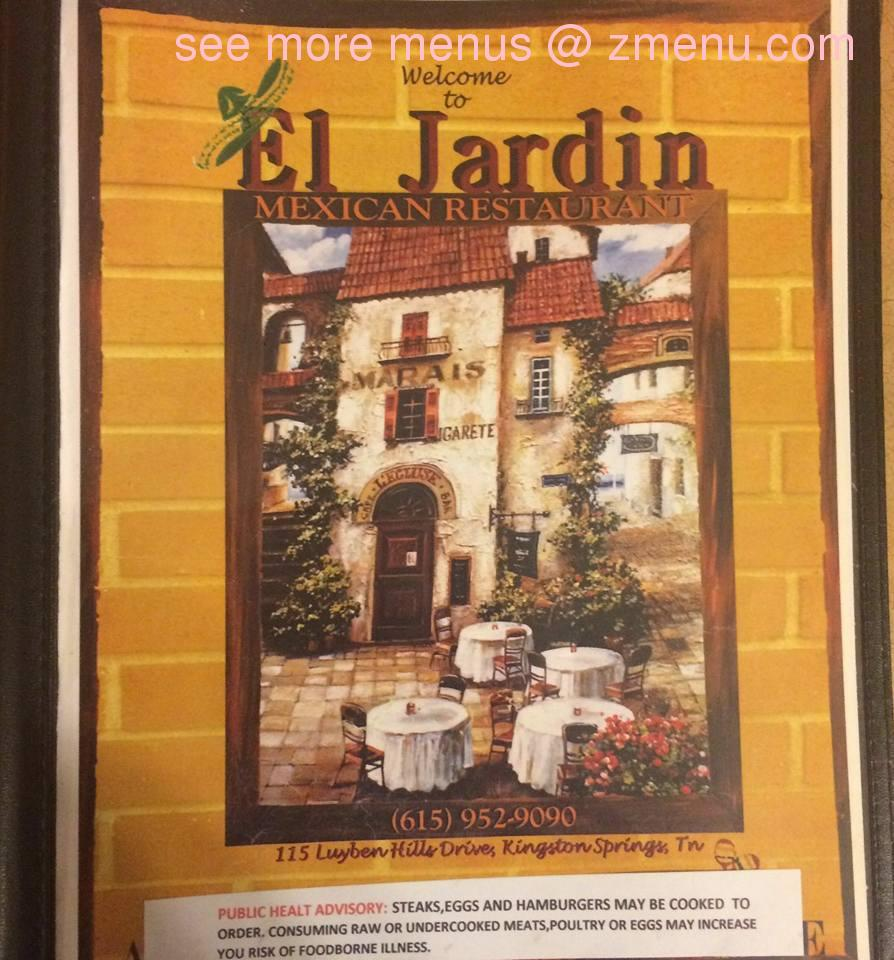 Online menu of el jardin mexican restaurant restaurant for El jardin online