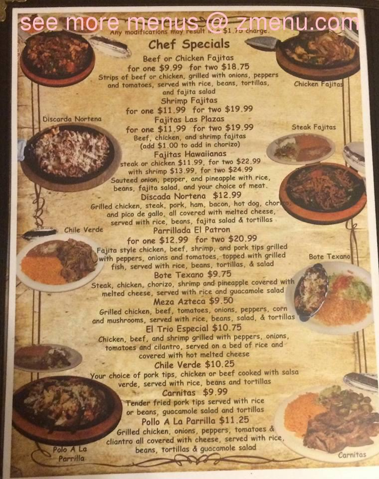 Online menu of el jardin mexican restaurant restaurant for Cafe jardin menu