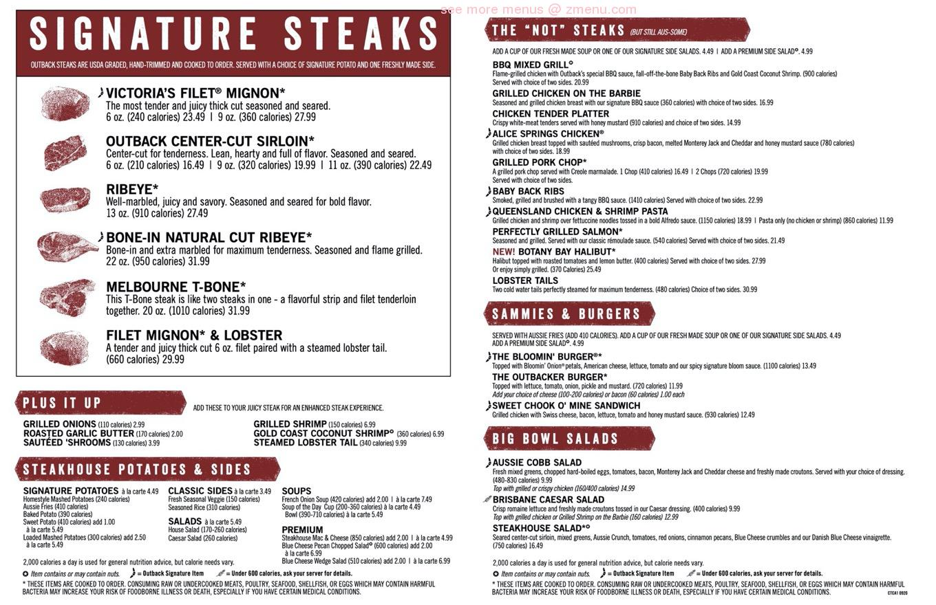 online menu of outback steakhouse restaurant poway california 92064 zmenu online menu of outback steakhouse