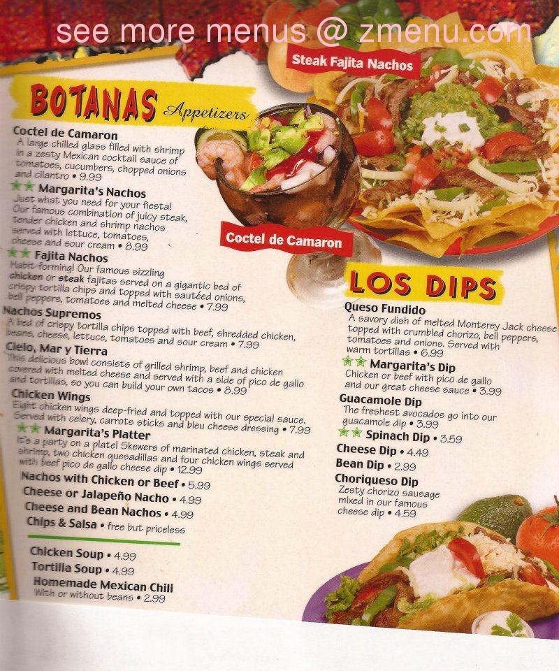 Online Menu Of Margaritas Mexican Restaurant Restaurant