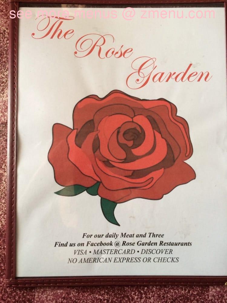 Online Menu Of Rose Garden Restaurant Restaurant Silver Point Tennessee 38582 Zmenu