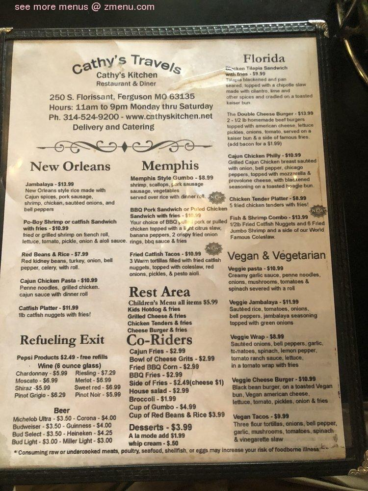 Online Menu Of Cathys Kitchen Restaurant Ferguson Missouri 63135 Zmenu