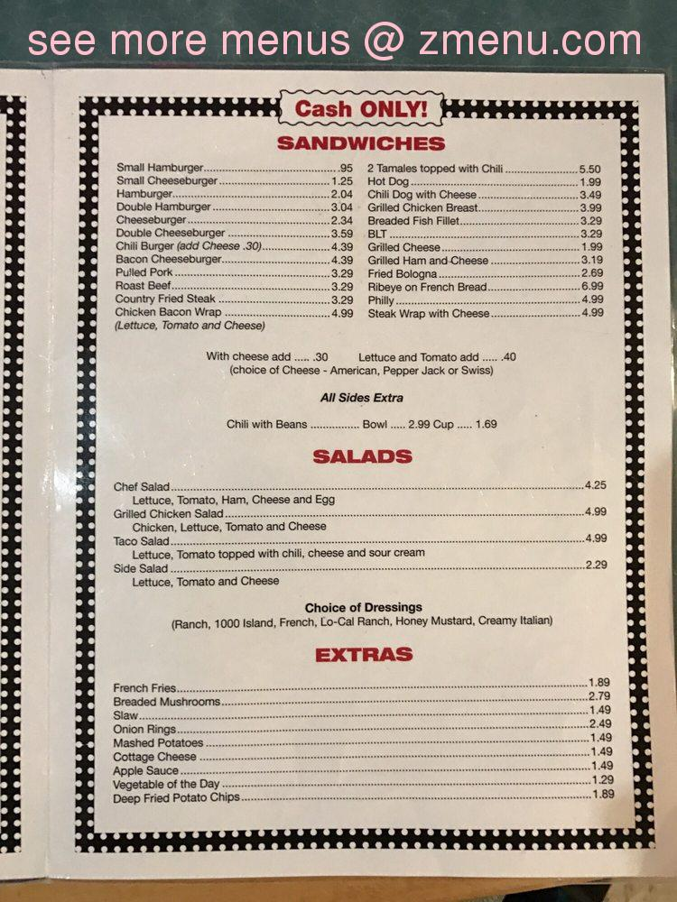 Online Menu Of Daves Diner Restaurant High Ridge