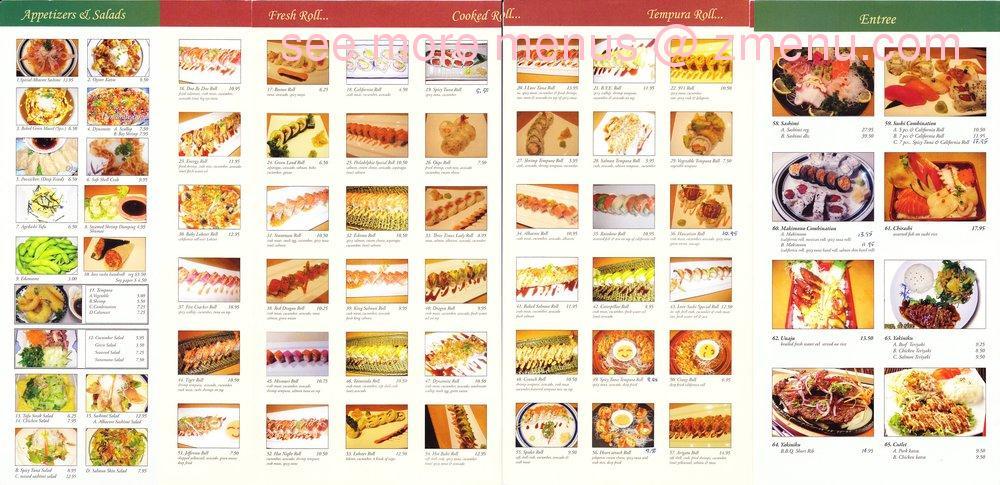 Online Menu of Love Sushi Restaurant, Jefferson City ...