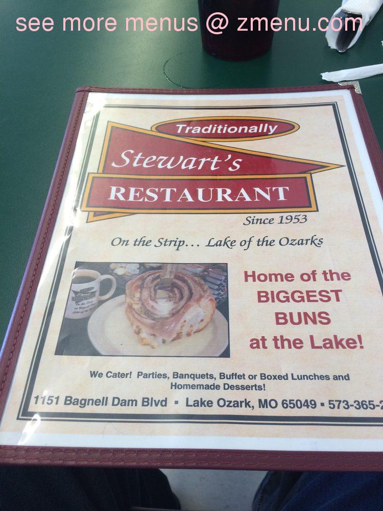 Online Menu Of Stewarts Restaurant Restaurant Lake Ozark Missouri