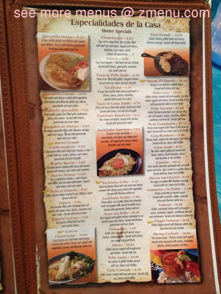 Online Menu Of Gran Ranchero Restaurant Athens Ohio