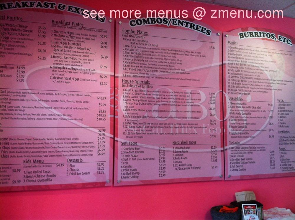 Los Cabos Mexican Restaurant Pittsburgh Pa Menu
