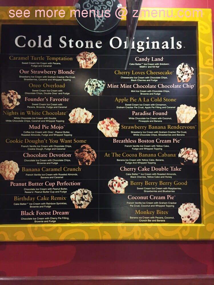 Online Menu Of Cold Stone Creamery Restaurant Lake Worth Florida