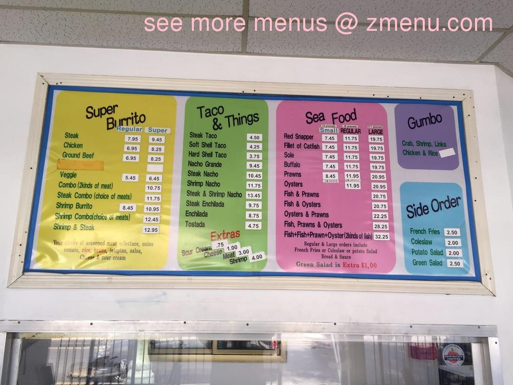 Online menu of charlie 39 s las palmas restaurant restaurant for Jj fish menu