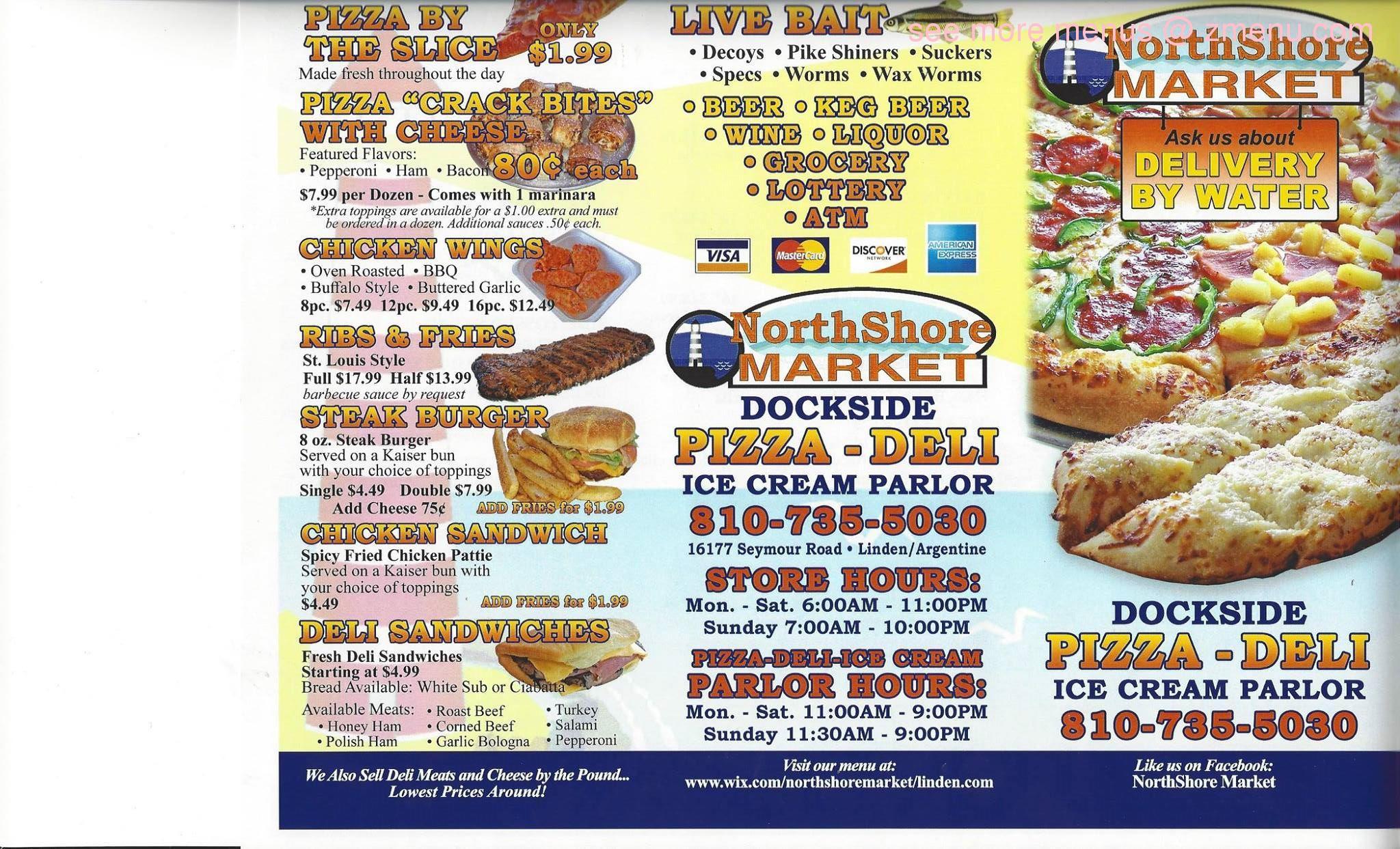 Online Menu Of Northshore Market Restaurant Linden Michigan 48451 Zmenu