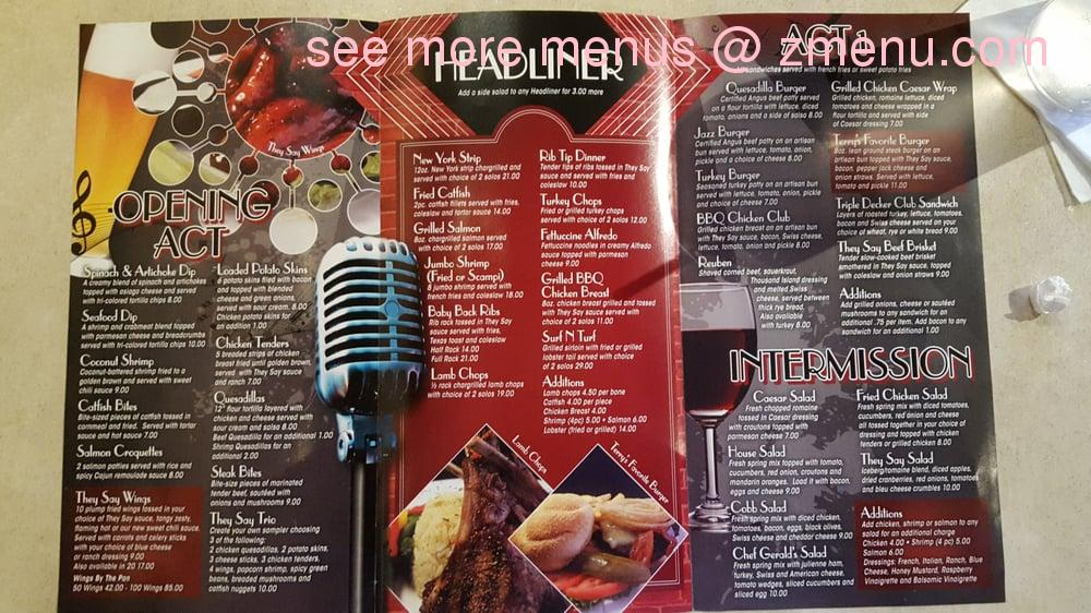 Online menu of they say restaurant detroit michigan 48207 zmenu note thecheapjerseys Image collections