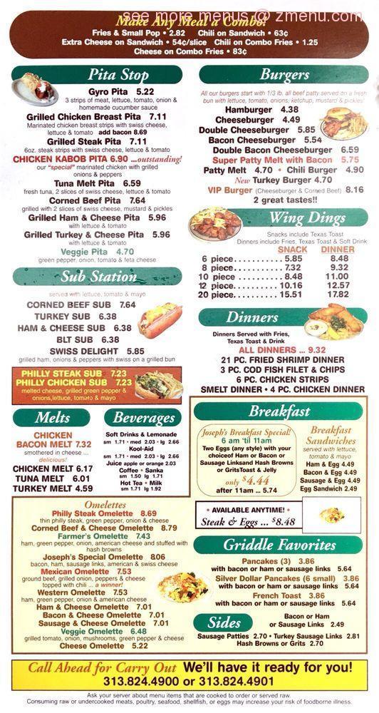 f50df171b9a9 Online Menu of Joseph s Coney Island Restaurant