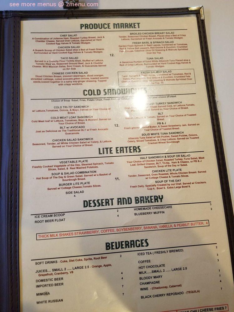 Online Menu Of 24th Street Cafe Restaurant Bakersfield California 93301 Zmenu