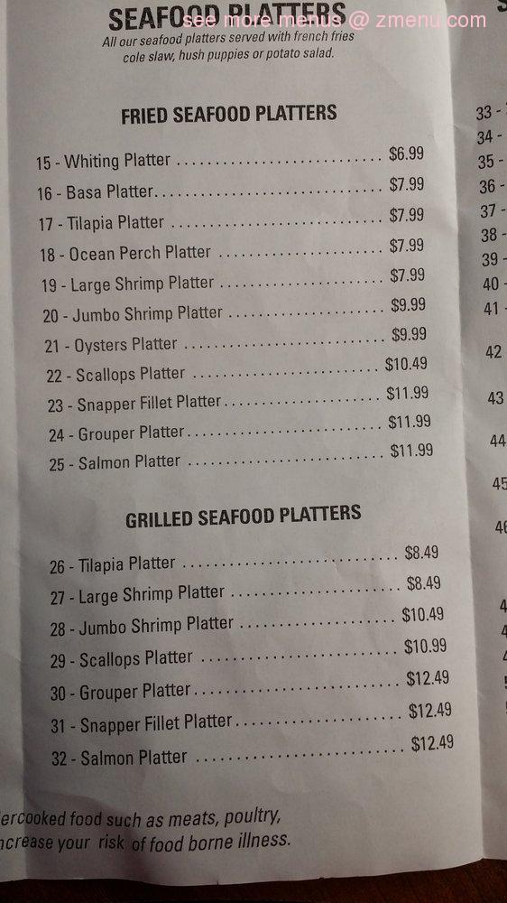 Online menu of austell seafood market restaurant marietta for Marietta fish market menu