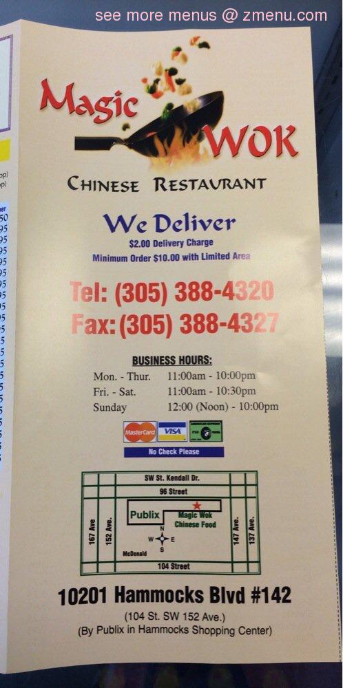 note      online menu of magic wok chinese restaurant restaurant miami      rh   zmenu