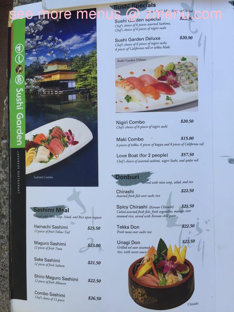 online menu of sushi garden restaurant capitola. Black Bedroom Furniture Sets. Home Design Ideas