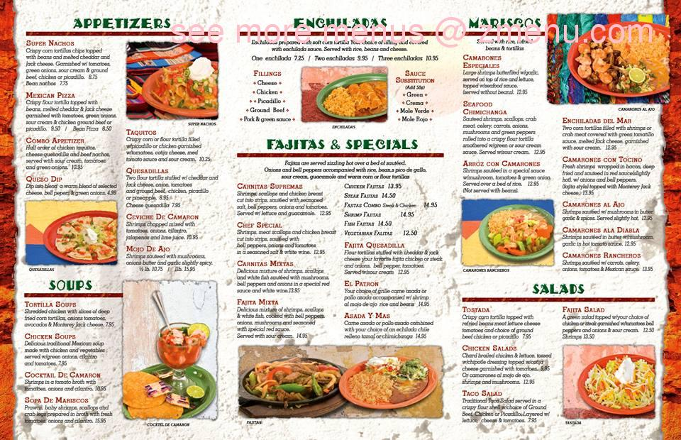 Chico S Mexican Restaurant Menu