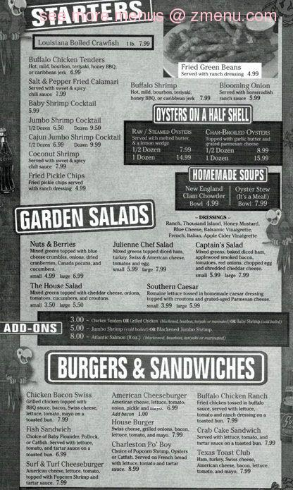 Online Menu of Captains Galley Seafood Shack-CLOSED ...