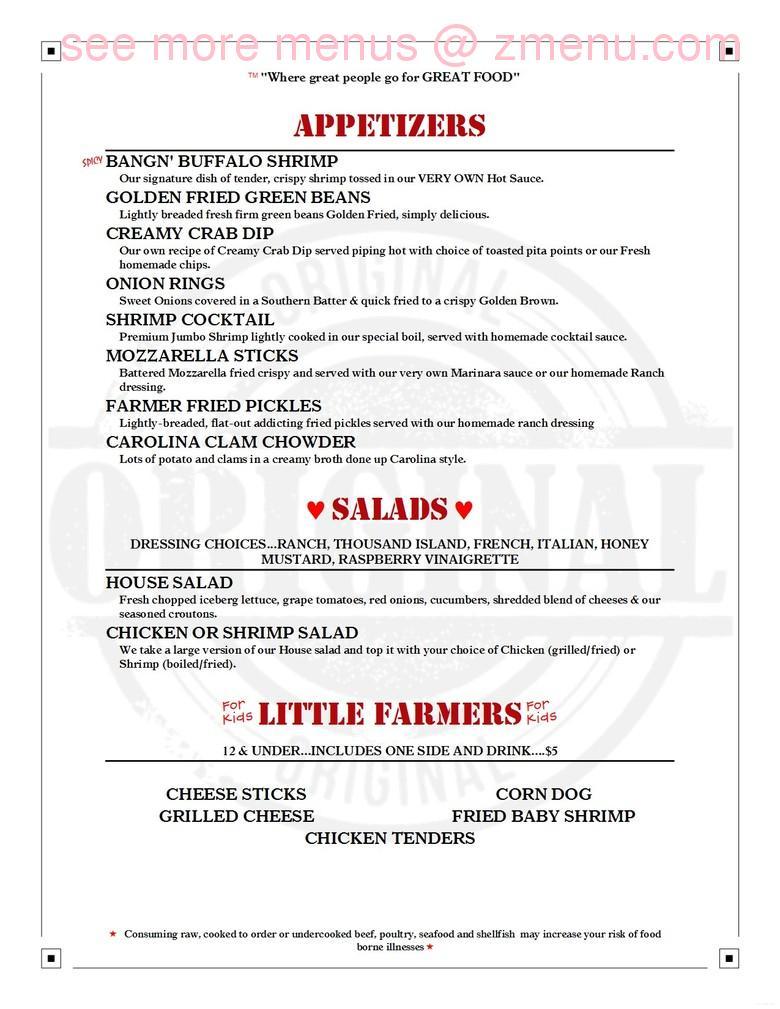 Sandpiper Restaurant Clinton Nc Menu