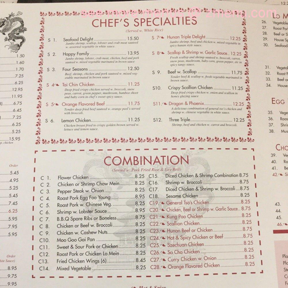 Online Menu of China Dragon Restaurant, Winston Salem, North ...