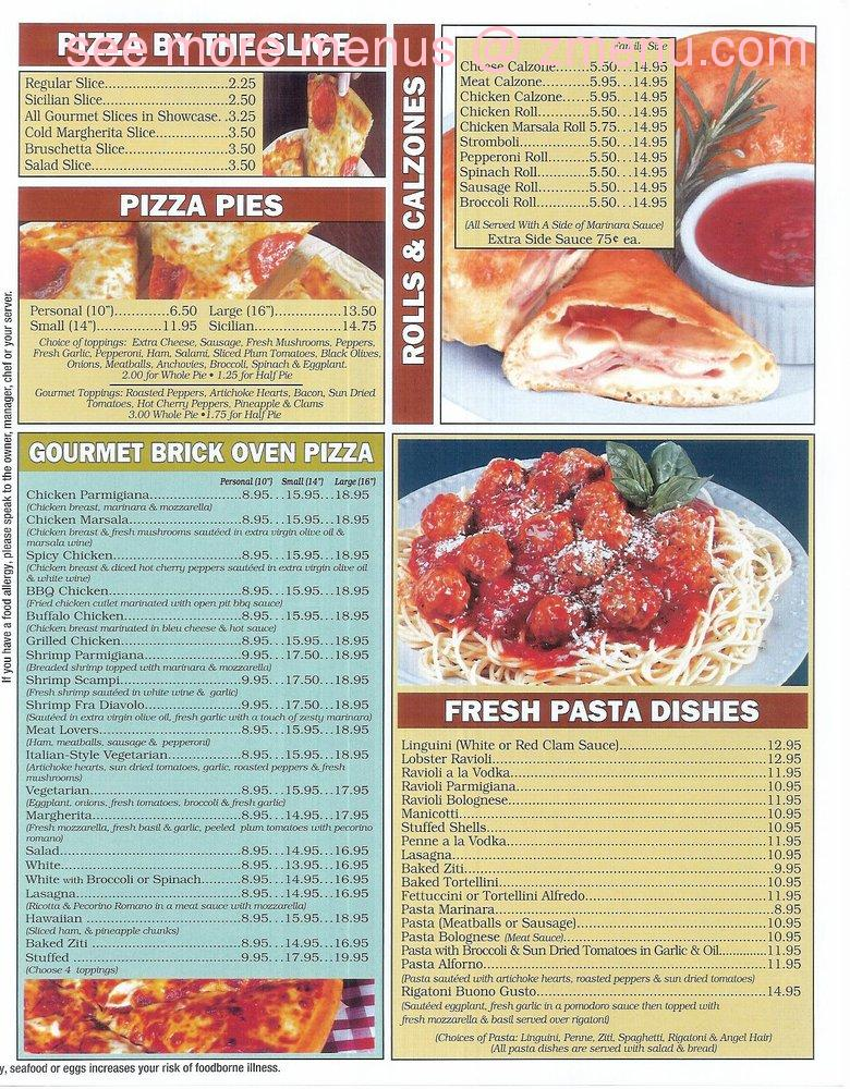 Online Menu Of Pronto Pizzeria And Restaurant Restaurant
