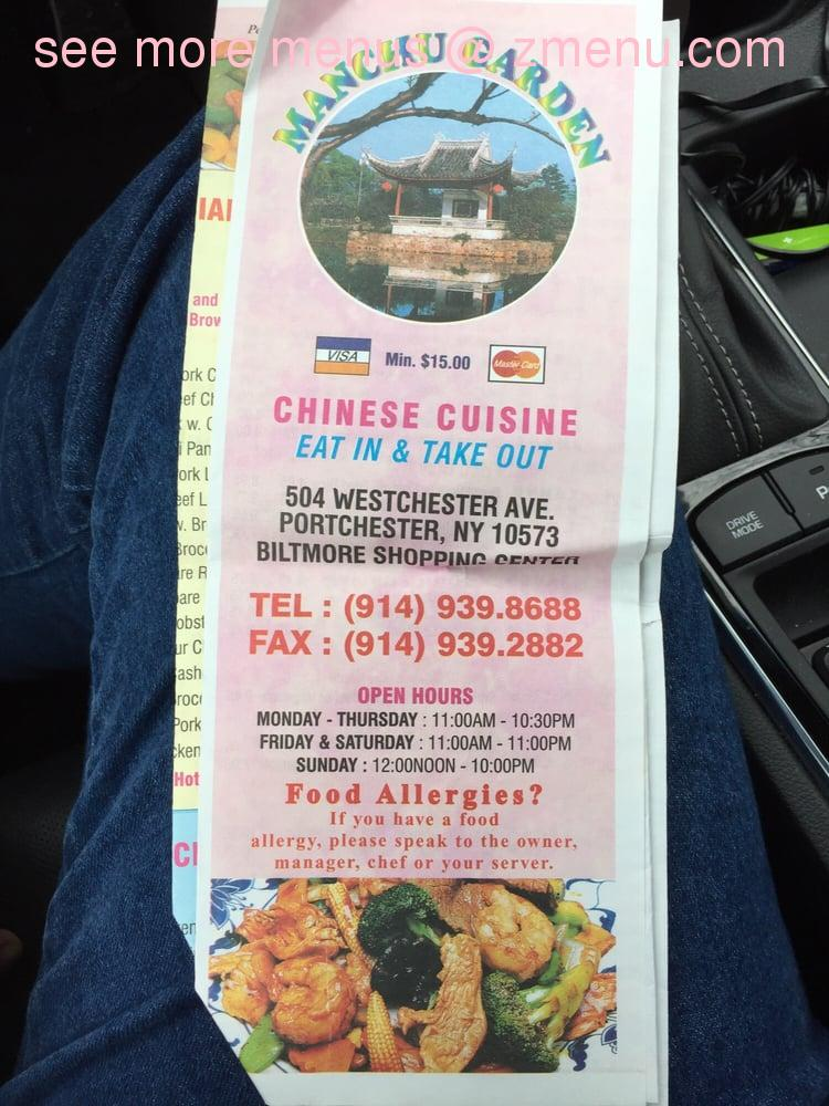 Online Menu Of Manchu Garden Restaurant Port Chester New York 10573 Zmenu