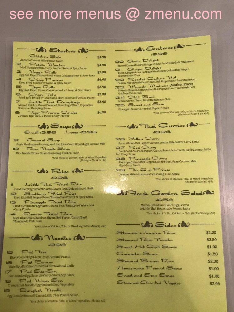 online menu of little thai kitchen restaurant flagstaff arizona rh zmenu com little thai kitchen menu greenwich ct little thai kitchen menu flagstaff