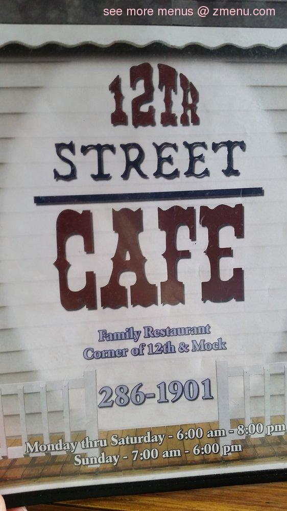 Th Street Cafe Muncie Menu