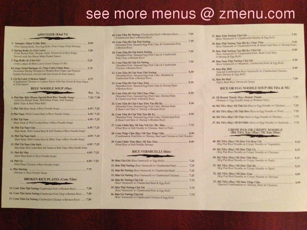 Gimeal Cafe Goleta Menu