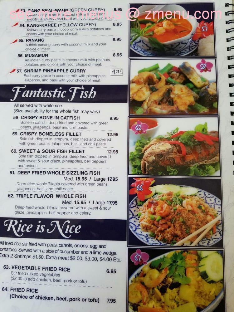 Orchid Thai Food Menu