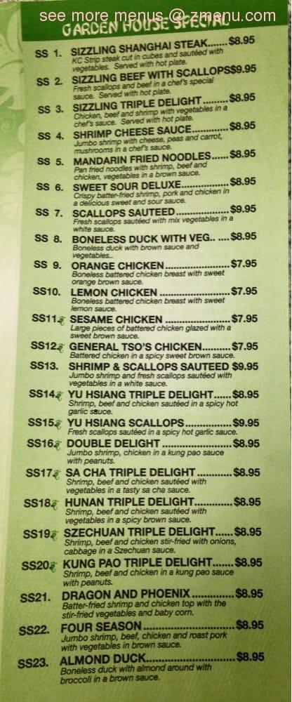 Online Menu of Chinese Garden Restaurant Restaurant, Kansas City ...