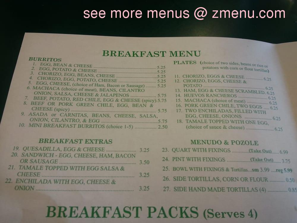 Online Menu Of Casa Delicias Restaurant Hesperia California 92345