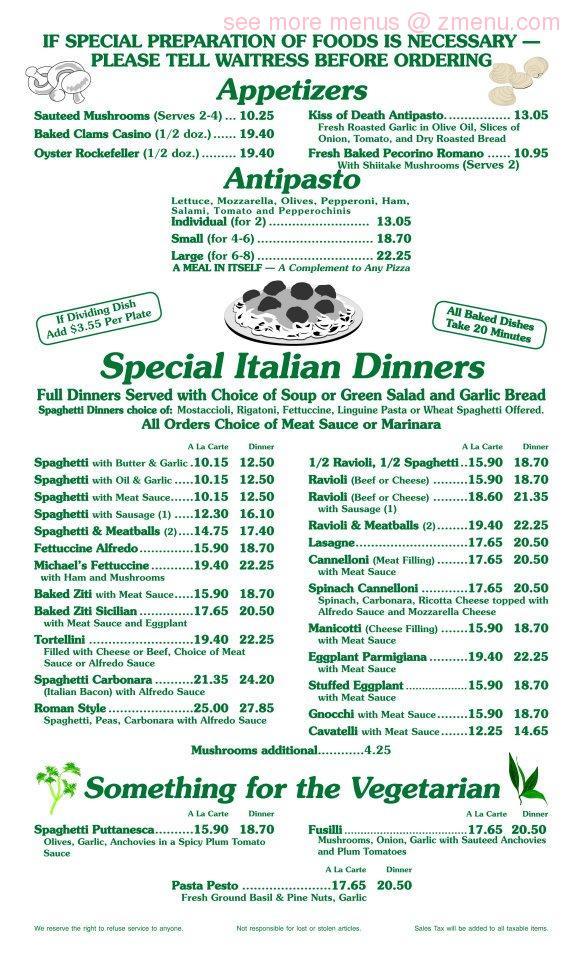 Online Menu Of The Italian Kitchen Restaurant Hesperia California