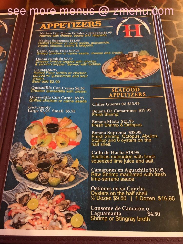 Online Menu Of Huertas Restaurant Restaurant Indio