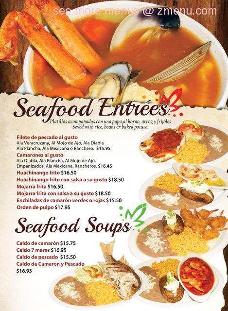 online menu of el tapatio restaurant restaurant  indio