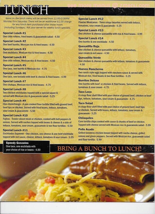 Online Menu of Yucatan Mexican Restaurant Restaurant ...