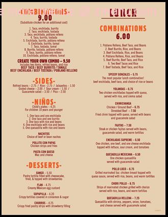 Online menu of san jose mexican restaurant restaurant elgin south carolina 29045 zmenu for Panda garden elgin sc