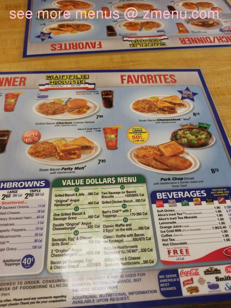 Online Menu Of Waffle House Restaurant Orangeburg South Carolina 29118 Zmenu