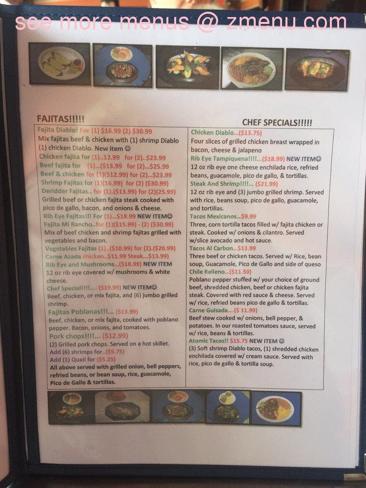 Online Menu Of Mi Rancho Restaurant Deridder Louisiana