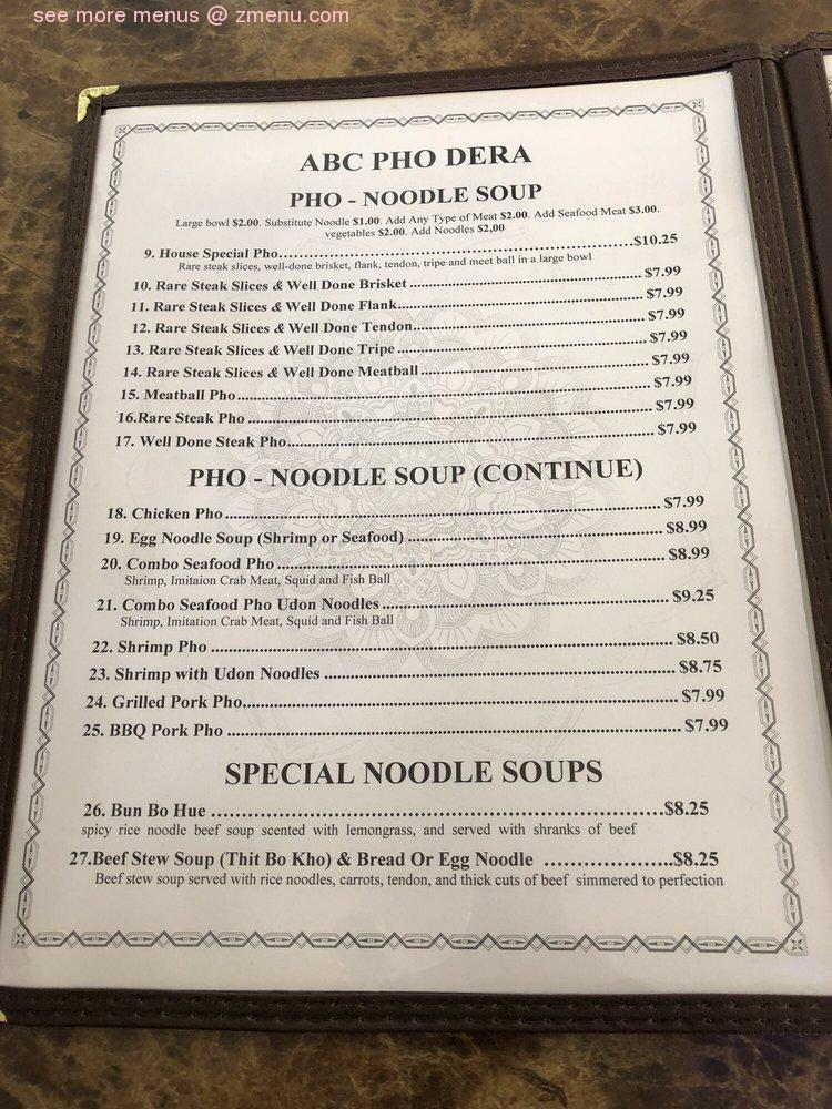 Online Menu Of Phodera Restaurant Madera California 93637 Zmenu