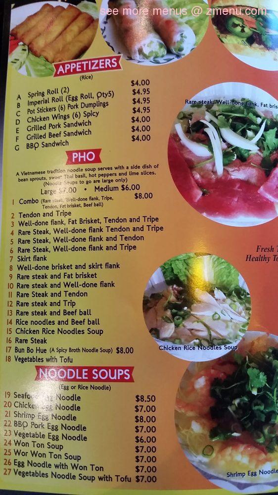 Online Menu Of Asian Pho Restaurant Reno Nevada 89511 Zmenu