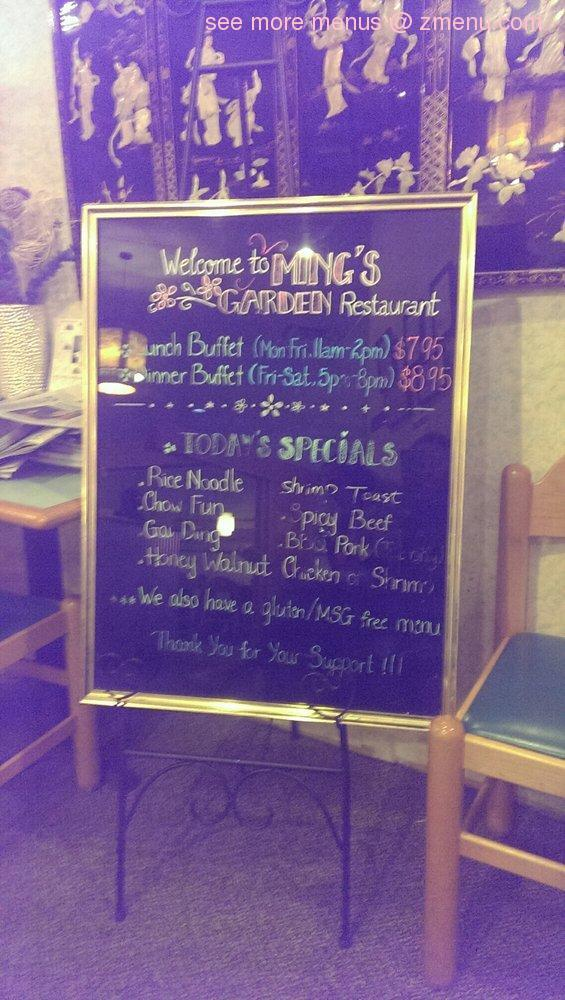 Online Menu Of Mings Garden Restaurant Plymouth Minnesota 55442 Zmenu