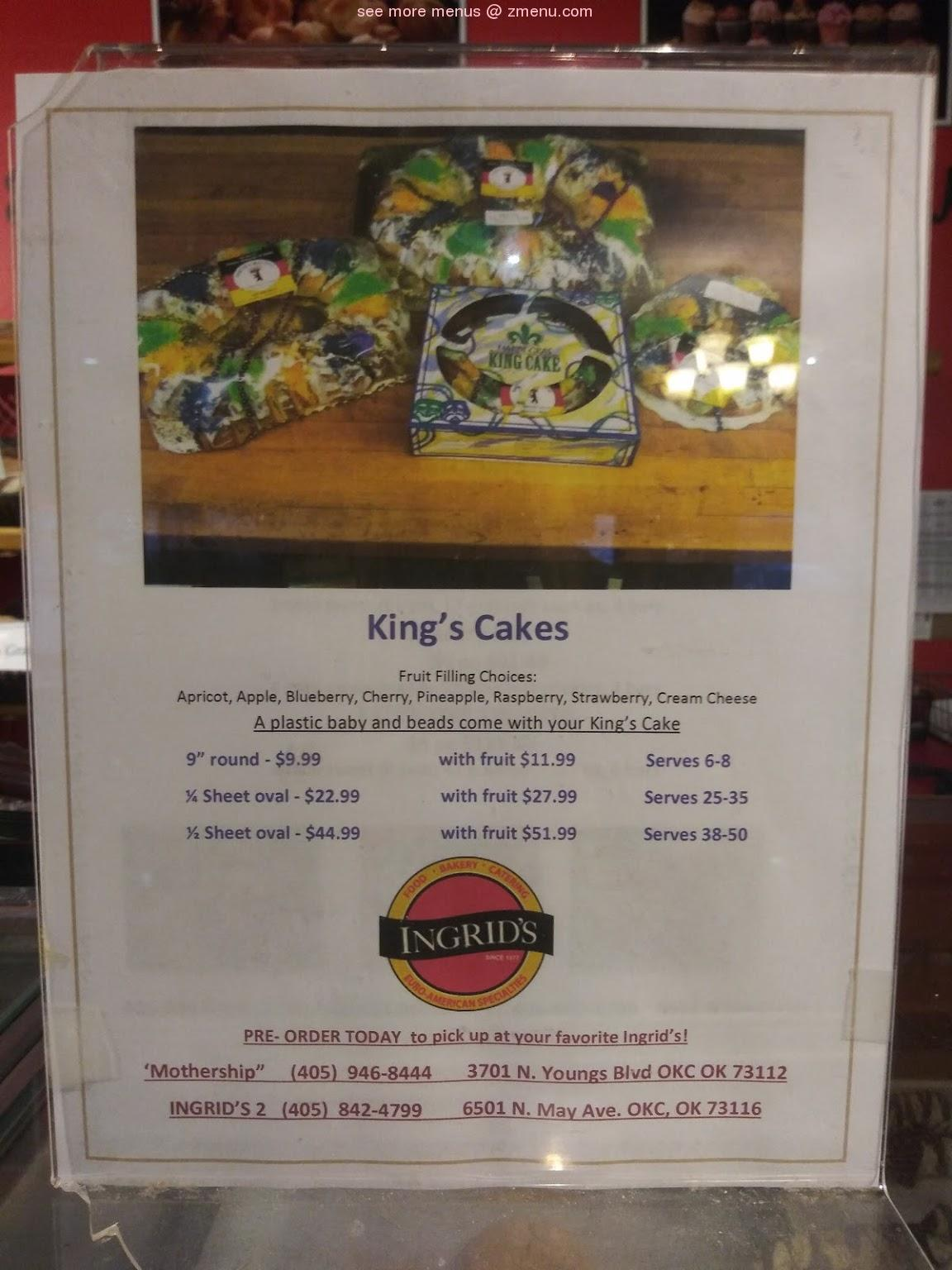 Online Menu Of Ingrids Kitchen Restaurant Oklahoma City Oklahoma 73112 Zmenu