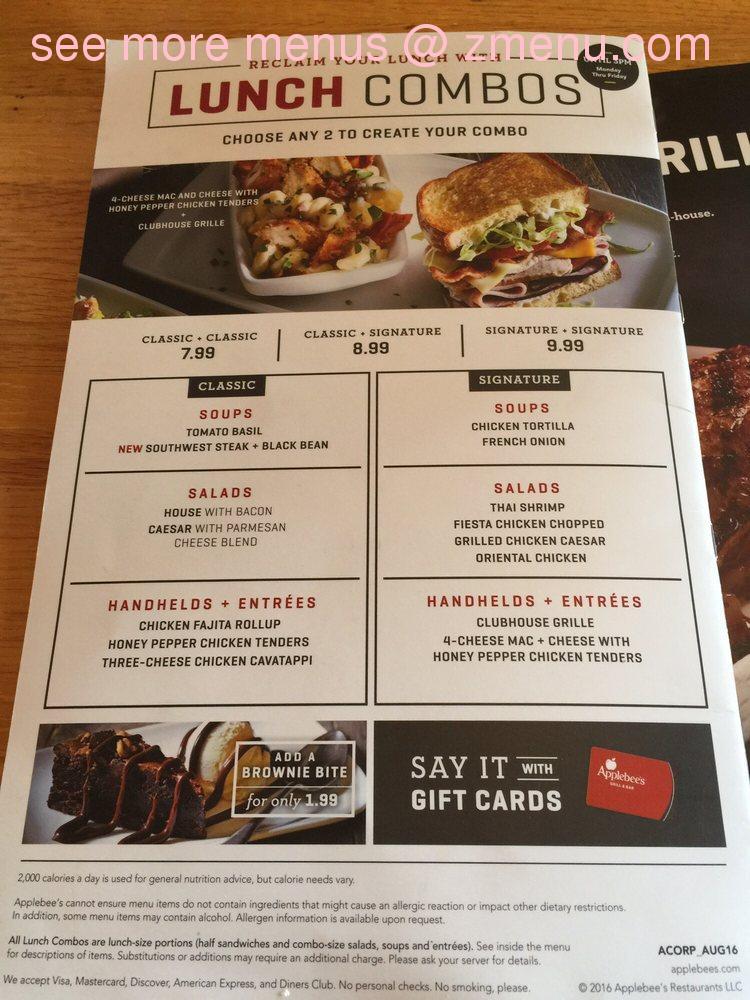 Online Menu Of Applebees Grill Bar Restaurant Altoona