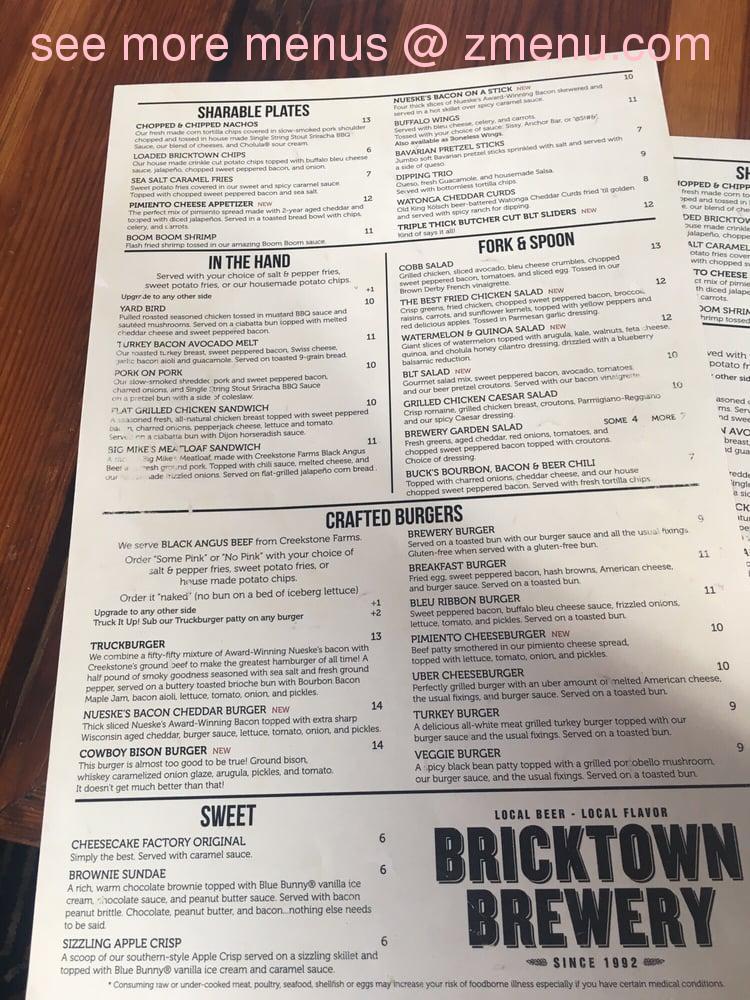 Online Menu Of Bricktown Brewery Restaurant Fort Smith Arkansas 72901 Zmenu