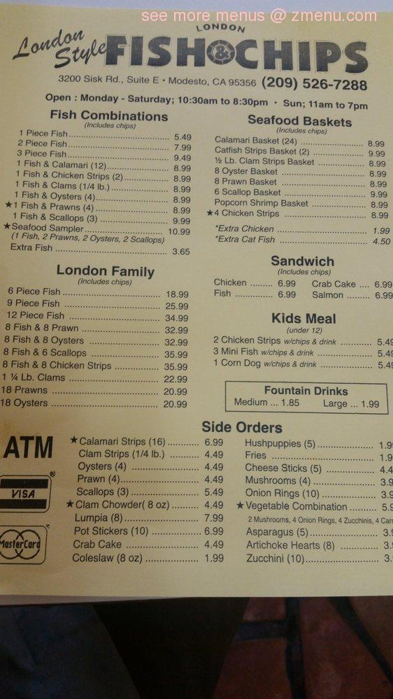 London Fish And Chips Restaurants  Hours