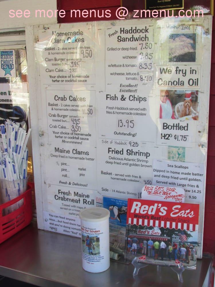 Online Menu Of Red S Eats Restaurant Wiscasset Maine