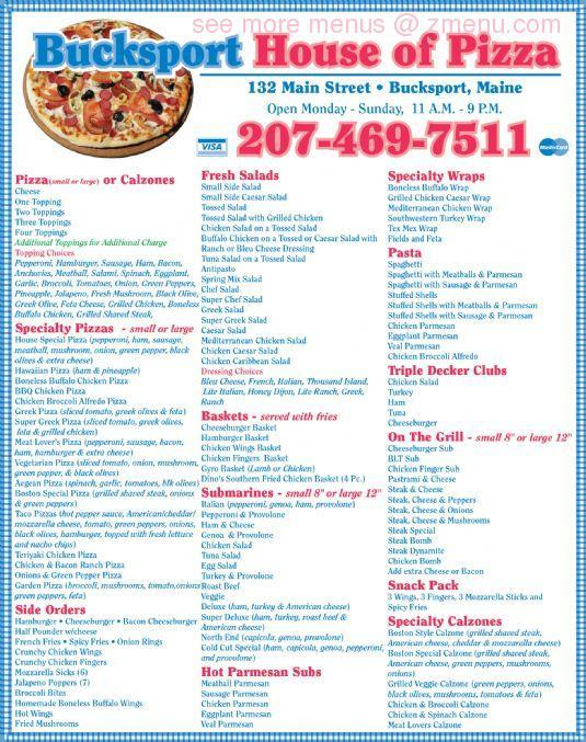 Milford house of pizza house plan 2017 for Classic house of pizza taunton ma