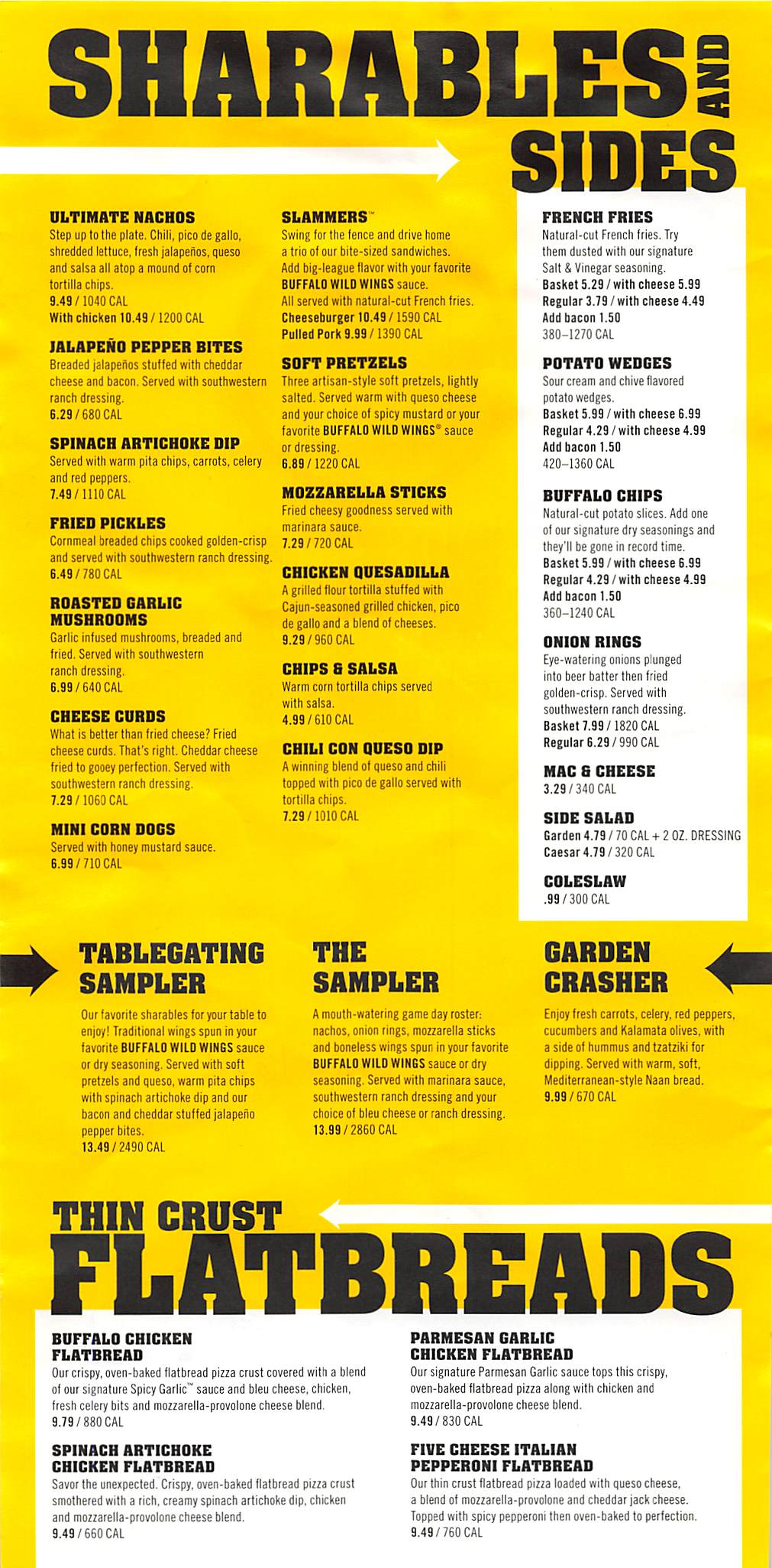 graphic regarding Buffalo Wild Wings Printable Menu known as Buffalo wild wings selling prices 2018 / Current Savings