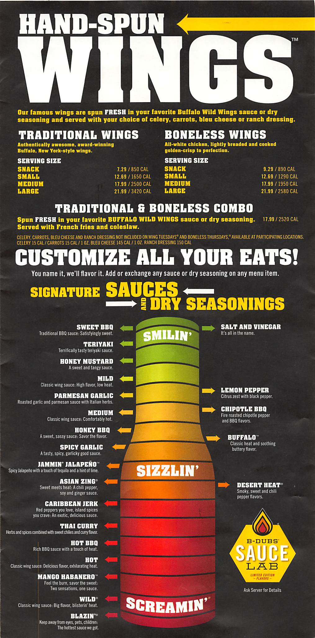 online menu of buffalo wild wings restaurant, union city, california